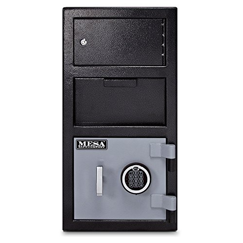 Mesa Safe MESA MFL2014E-OLK All Steel Depository Safe with Outer Locker, with Electronic Lock, 1.5-Cubic Foot, Black and Grey Black/Grey