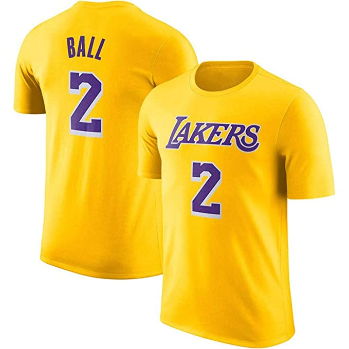 KSITH Camiseta Hombre NBA Fan Lakers # 2 Jersey Baloncesto Carta ...