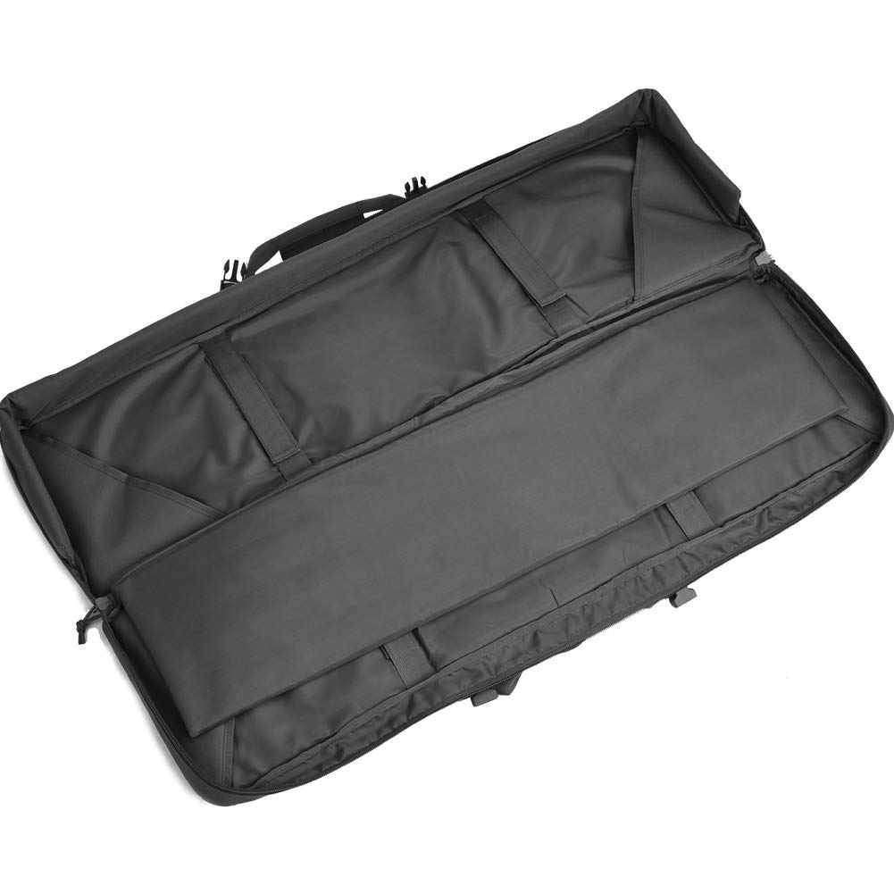 BOW-TAC Double Long Rifle Gun Case Bag Tactical Rifle Backpack Pistol Soft Firearm Transportation Carbine Case - Lockable Compartment, Available Length in 36'' 42'' 46'' by BOW-TAC (Image #6)