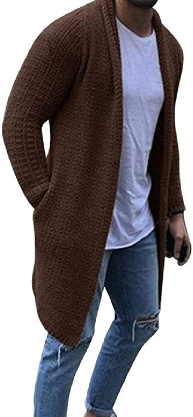 NOBRAND Mens Casual fit Cardigan Sweater Single Breasted Turtleneck Sweater Coat