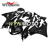 WYNMOTO ABS Plastic Injection Gloss Black Motorcycle Full Fairing Kit Cowlings For Kawasaki ZX6R 2009 2010 2011 2012 ZX-6R 2009 - 2012 Sportbike Bodywork