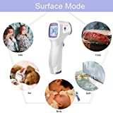 [Fast Delivery] Thermometer for Adults, Non-Contact Infrared Digital Forehead Thermometer, LCD Display, No Touch Accurate Instant Readings Kids Baby