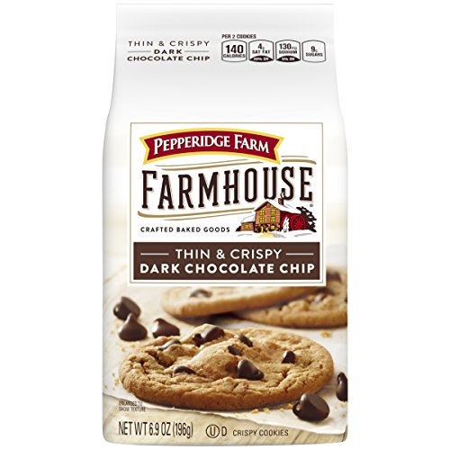 - Pepperidge Farm Farmhouse Thin & Crispy Cookies, Dark Chocolate Chip, 6.9 Ounce