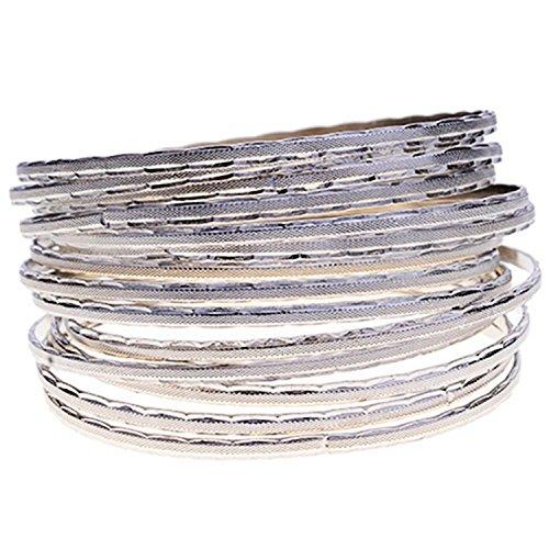 Lureme Casual Style Silver Tone Multi-la - Multi Bangle Set Shopping Results