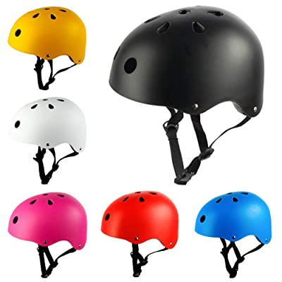 Rancheng Outdoor Sports Helmets Kids Safety Helmet Bike Bicycle Skate Board Scooter Sports Good Head Protector Black M : Sports & Outdoors