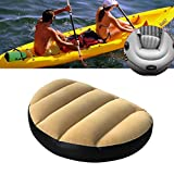 Pack of 2 Inflatable Boat Seat, PVC+ Velvet Boat Seat Cushion Pad Covers Outdoor Camping Rafting Kayak (Yellow)