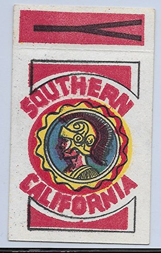 1961 Topps Football Flocked Stickers USC Trojans With Tab Vg-Ex Condition Set Break