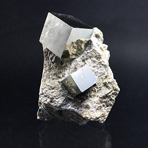 Pyrite Cube on Basalt From Navajun, Spain - PB20 by Astro Gallery Of Gems