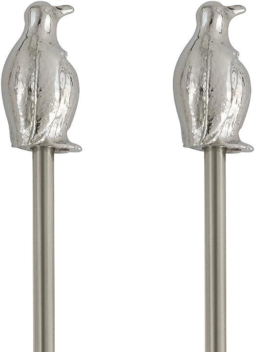 THIRSTYSTONE Assorted Set of 4 Penguin Bling Swizzle Sticks