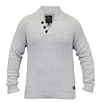 cc50af68ca70a0 Threadbare Men's Jumpers IMV042PKA White 2X Large: Amazon.co.uk ...