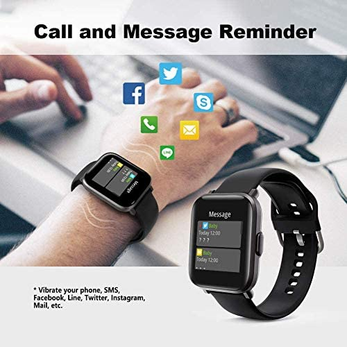 Smart Watch, UXD Fitness Activity Tracker with Sleep Heart Rate Monitor for Men Women 5ATM Waterproof Pedometer Smartwatches for iPhone Samsung Android Phones 7