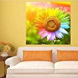 Smartcoco Full Drill 5D Diamond Painting Sunflower Wall Sticker 3D Diamond Mosaic Cross Stitch Embroidery Wall Craft Decor, 15.7'' x 15.7''