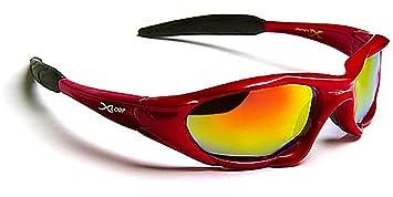 X-Loop Lunettes de Soleil - Sport - Cyclisme - Ski - Moto - Voile - Mode - Tennis / Mod. 010P Rouge Diesel Miroir Ks7kZZ3QSP