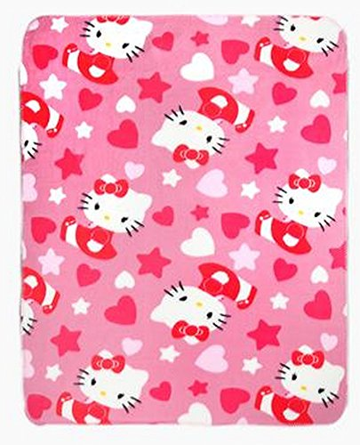 (Hello Kitty Throw Blanket and Foot Warming Slipper)