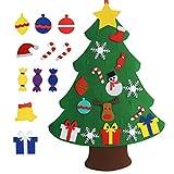 beautiful christmas decorations Chasgo Felt Christmas Tree Kit with 27 PCS Christmas Ornaments, Funny Hanging Christmas Tree Decor for Kids Room, New Year Xmas Gift for Kids