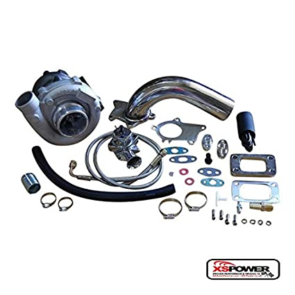Amazon.com: T3/T4 Turbocharger Kit T3 T4 Turbo, Downpipe, BOV, Braided Stainless Feed: Automotive