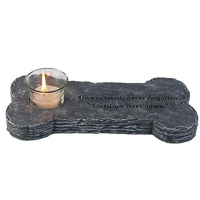 """jinhuoba Dog Memorial Stones, Loss of Pet Gift Indoor Outdoor for Garden Backyard Marker Dog Tombstone - 8""""L x 3.6""""W (Black) : Garden & Outdoor"""