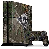 Skinit NFL Los Angeles Rams PS4 Console and Controller Bundle Skin - Los Angeles Rams Realtree Xtra Green Camo Design - Ultra Thin, Lightweight Vinyl Decal Protection