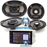 Pioneer AXT-2969BT DVD Receiver with 6.2 Display and Bluetooth, (2) 6.5 2-Way Speakers and (2) 6 x 9  3-Way Speakers