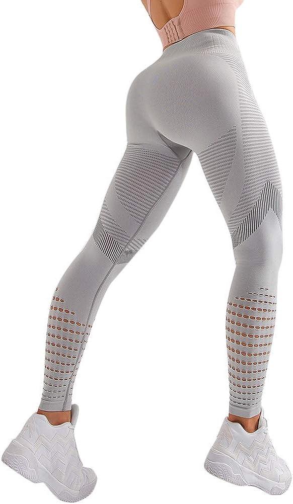 Onsoyours Legging Femme Pantalon de Sport Yoga Fitness Minceur Long Gym Pilates Slim Fit Butt Lift Elastique Taille Haute Sport Pantalon