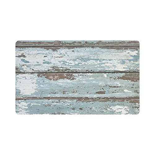 (InterestPrint Rustic Old Barn Wood Anti-Slip Doormats Entrance Mat Floor Rug Indoor/Outdoor/Front Door Mats Home Decor, Rubber Backing 30