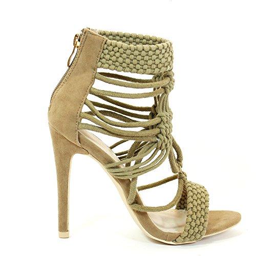 Envy London - Zapatos con tacón mujer Beige