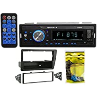 2001-2005 Honda Civic Single-Din Rockville Digital Media Bluetooth Receiver + Install Kit