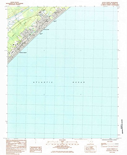 Ocean Forest SC topo map, 1:24000 scale, 7.5 X 7.5 Minute, Historical, 1984, updated 1984, 26.8 x 22 IN - - Acres Green Long Island