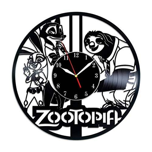 Amazon Com Zootopia Cartoon Vinyl Record Wall Clock