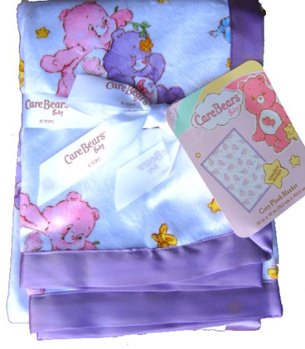Care Bears baby cozy plush blanket with satin trim NEW (Care Bears Blanket)