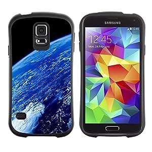 """Pulsar iFace Series Tpu silicona Carcasa Funda Case para Samsung Galaxy S5 , Atmósfera de la Tierra Planeta Azul Océano Espacio"""""""