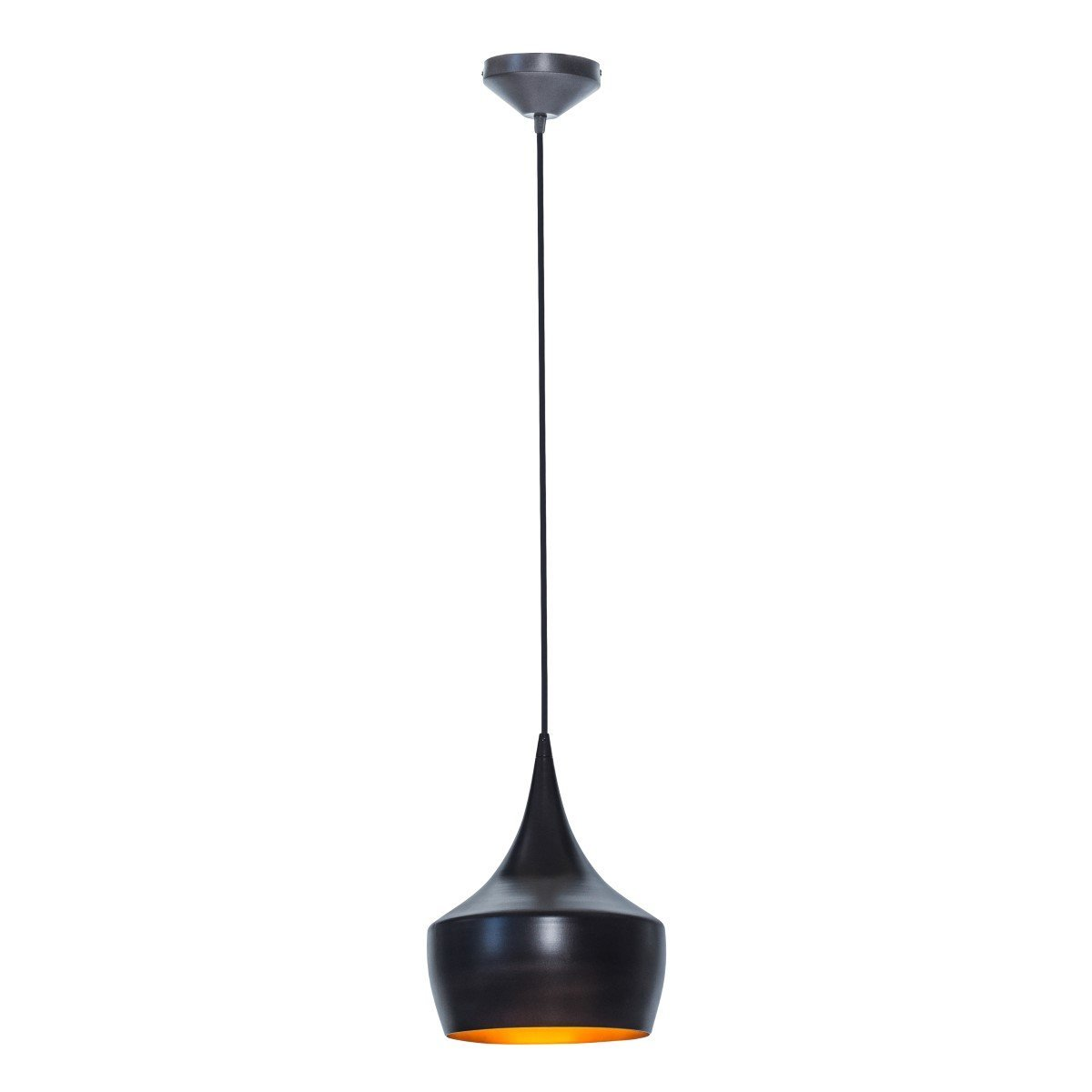 globe electric 1light small modern industrial pendant oil rubbed bronze gold inner finish 1x a19 60w bulb sold separately