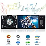 Single Din in Dash Car Stereo with Bluetooth Car Radio 4.1 Inch Car Audio Stereo for Cars with Rear View Camera Car Stereo Receiver Support USB/SD/AUX Input