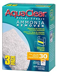 Aquaclear 30-gallon Ammonia Remover - 18 Total Filters (6 Packages with 3 Filters each)