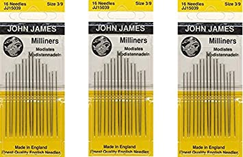 Milliners Hand Needles-Size 3/9 16/Pkg (3 Pack) Colonial Needle