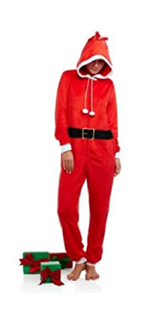 3e4ac7b31 Amazon.com  Womens Juniors Body Candy Santa Claus Union Suit One ...