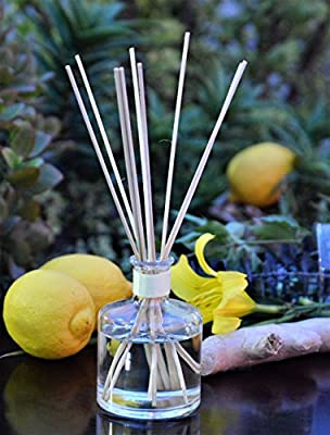 Sale! Lemongrass & Ginger ENERGIZE Aromatherapy oil Reed Diffuser gift set by MINX Fragrances | Fresh Lemongrass, Ginger, Cedar & Mandarin Orange | Great Scent for the Home & Office | Made in the USA