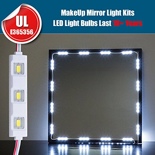 findyouled make up mirror led light kit for cosmetic mirror vanity mirror 10. Black Bedroom Furniture Sets. Home Design Ideas