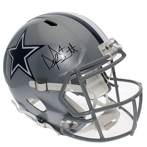 Dak Prescott Signed Dallas Cowboys Speed Replica Full Size Helmet - JSA Certified Authentic - Autographed NFL Helmets (Autographed Dallas Cowboys Authentic Helmet)