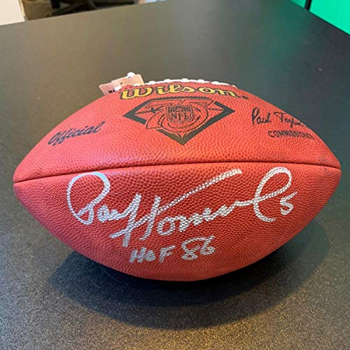 Paul Hornung Hall Of Fame 1986 Autographed Signed Official Wilson NFL Game Football Memorabilia PSA/DNA Autographed Official Nfl Game Football