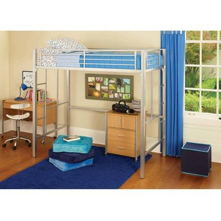 your zone metal loft twin bed: Multiple Colors (Silver)