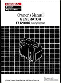printed  honda portable generator eui owners manual  honda amazoncom books
