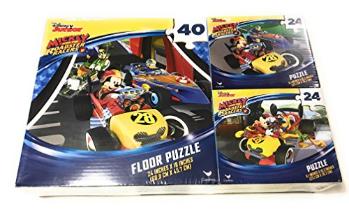 Mickey And The Roadster Racers Puzzle - Great Gift For Kids - 3 Puzzles Inside by tafa sells