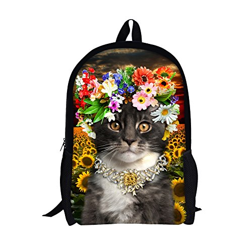 TOREEP Cute Colorful Cat Printed Girls Casual School (Olive Transparent Sunglasses)
