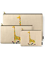 Society6 Paint By Number Giraffe Carry-All Pouch