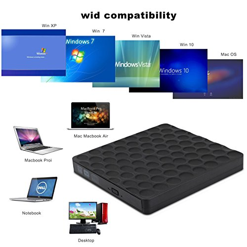 LITSPED External DVD Drive,USB 3.0 Slim Portable External DVD/CD Reader Write High Speed Transfer DVD Drive for Mac OS/Win7/Win8/Win10/Vista PC Desktop Laptop by LITSPED (Image #3)