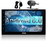 7 inch Android 6.0 Marshmallow Car Stereo with Backup Cam, External Mircophone - 2 Din in Dash GPS Navigation Bluetooth Radio - Support Phone Mirror, USB, SD, Dual CAM-IN, OBD2, 3G, 4G, WIFI