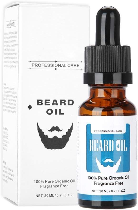 Aceite de afeitado de calidad, Nutrición facial para hombres Potenciador de bigotes, Suero para el cuidado de la barba - Suaviza, hidrata, regula la barba, promueve el crecimiento de la barba