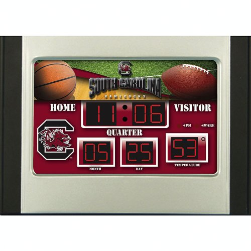 Team Sports America South Carolina Gamecocks Scoreboard Desk Clock