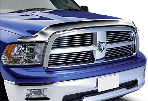 Razer Auto Truck Front Air Deflector Triple Chrome Plated Hood Guard Bug Deflector for 09-15 Dodge RAM (Chrome Plated Air)